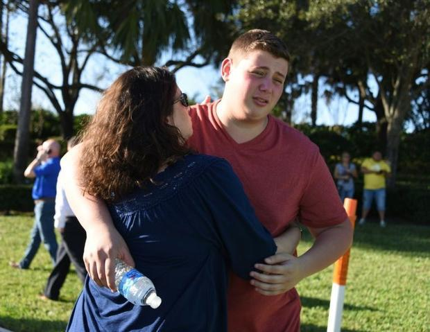 At first some students thought the shooting at their Florida high school might be a drill