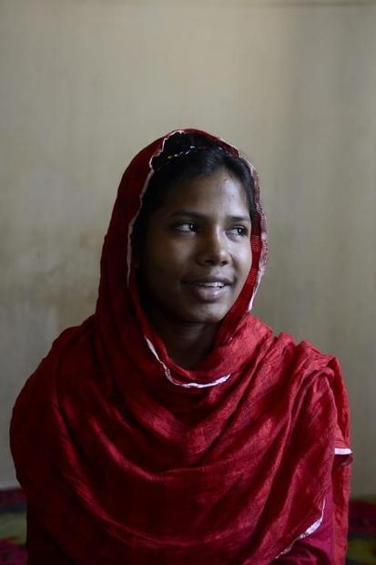 Bangladeshi garment worker Reshma Akter  who was rescued after 17 days buried in the rubble of the c...