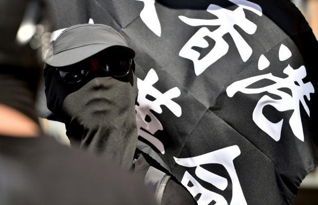 Protesters supporting Hong Kong's pro-democracy movement marched in Sydney  Australia  as part ...