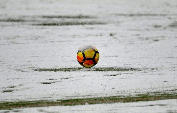 Heavy snow caused a Serie A football game between Juventus and Atalanta to be postponed in the north...