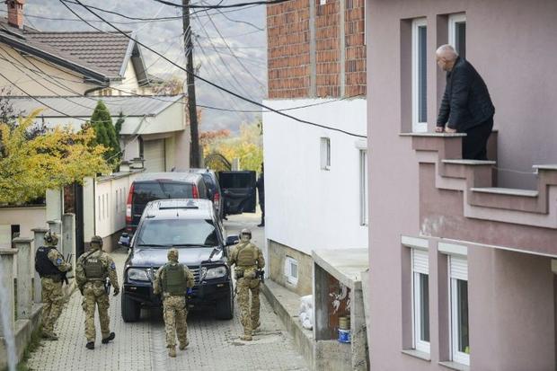 A secial EU police unit arrested former Kosovo Liberation Army (KLA) spokesman Jakup Krasniqi at his...