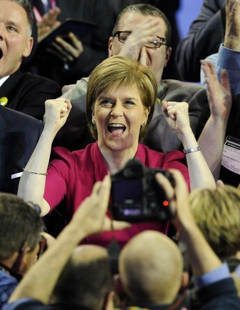The SNP led by Nicola Stureon won 56 of 59 parliamentary seats in Scotland in Britain's general...