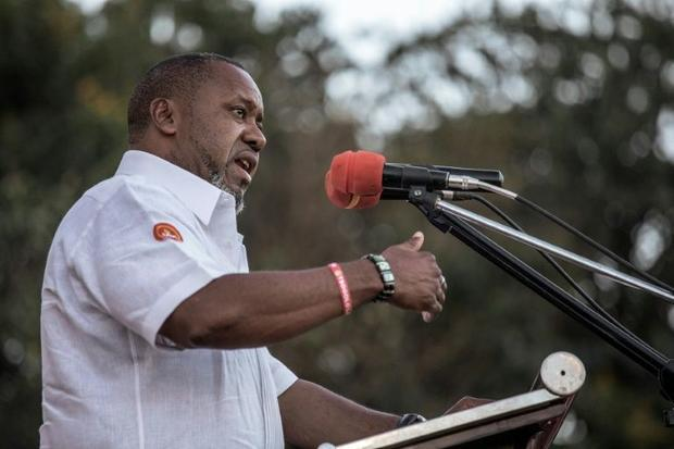 Malawian Vice President and United Transformation Movement presidential candidate Saulos Chilima qui...