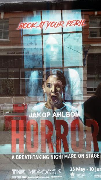 A young woman returns to the place of her bleak childhood - the poster for the production of Horror.