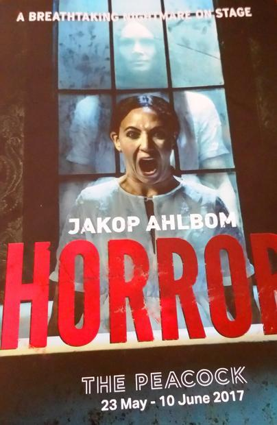 Theater program from the production of Horror.