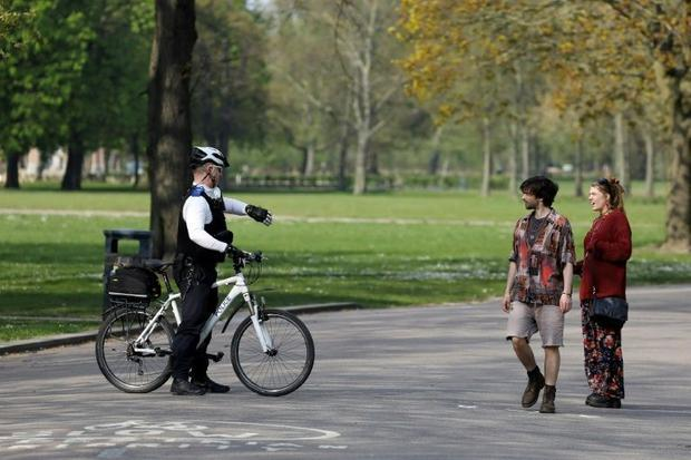 Police are trying to persuade people tempted out by the warm weather to respect the lockdown and sta...