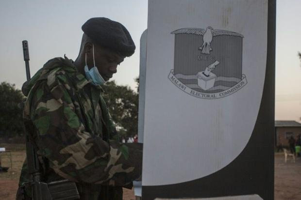 Malawi's vote is taking place amid the coronavirus pandemic that has killed 11 people and infec...