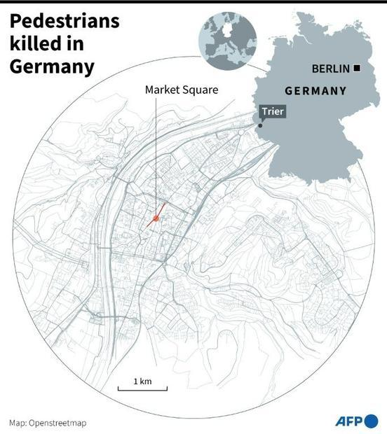 The attack happened on a pedestrian shopping street