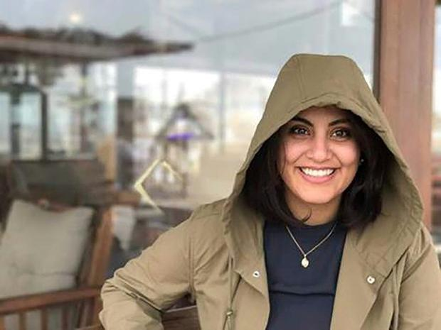Saudi activist Loujain al-Hathloul  seen posing for a photo from her Facebook page  has been release...
