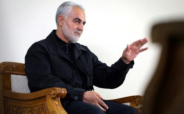 Iran's pointman on Iraq  Qasem Soleimani  commander of the Revolutionary Guards' elite Qud...