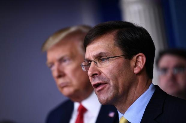 US Defense Secretary Mark Esper says he does not see US military adversaries taking advantage of the...