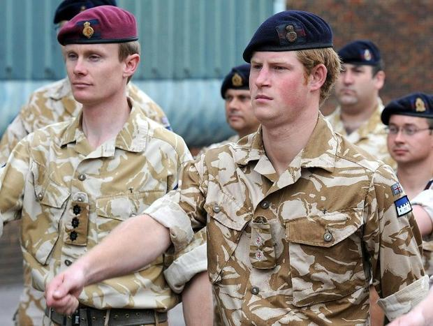 Prince Harry  a former soldier who servedwith the BritishArmyin Afghanistan  holds several hon...