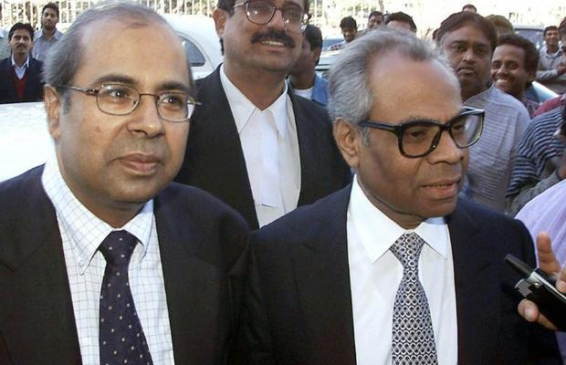 The Hinduja brothers Sri (L) and Gopi saw their fortune fall more than $7 billion