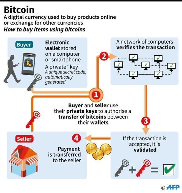 Description of how bitcoins function