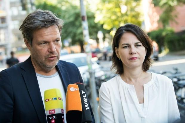 Green co-leaders Robert Habeck and Annalena Baerbock have energised the party with their charisma an...