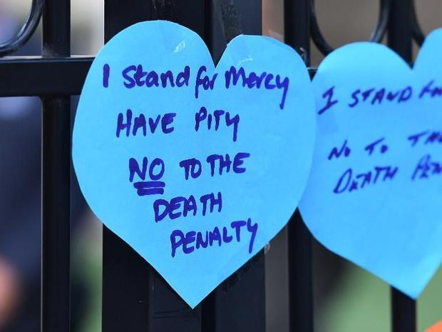 A message for Australian drug convicts and death row prisoners Myuran Sukumaran and Andrew Chan pict...