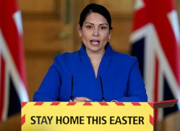 Interior minister Priti Patel insisted on the need for people to stay indoors