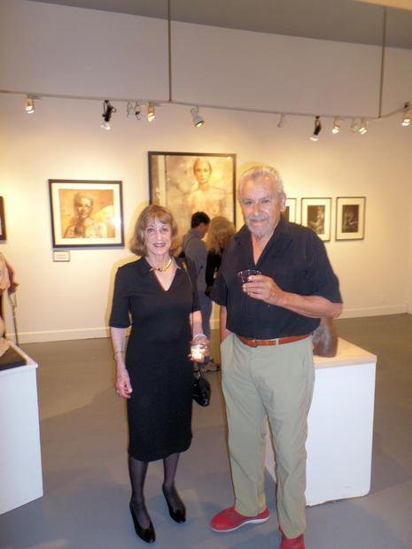Seen here is Catherine Merrill and Michael Ruiz at the opening on Sept. 17.  Michael served for six ...