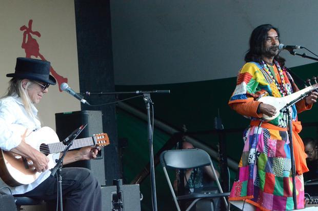 Bill Bourne and Nityagopal Das. Edmonton Folk Music Festival 2015.
