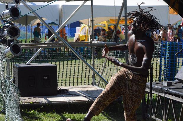 Emmanuel Jal. Edmonton Folk Music Festival 2015.