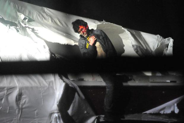 Dzhokhar Tsarnaev was photographed by Massachusetts State Police tactical photographer Sgt. Sean Mur...