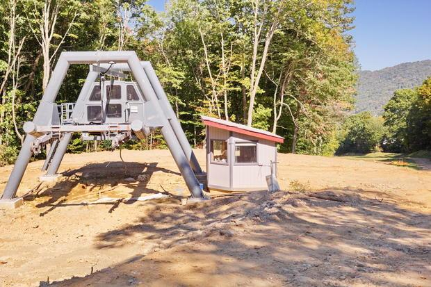 GW Lift installed in fall 2015 at Sugar Mountain in it s new position at the top of Easy Street to s...