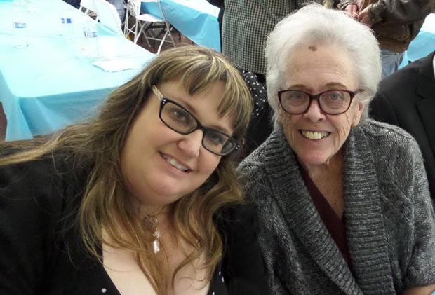 Jennifer Thalasinos with her mother Linda