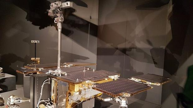 The Rosalind Franklin rover is an autonomous six-wheeled terrain vehicle with mass approximately 300...