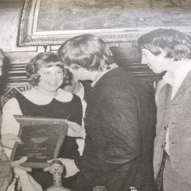 Seen here is Marti Edwards  ecstatic at being able to meet The Beatles at the 1964 press conference ...
