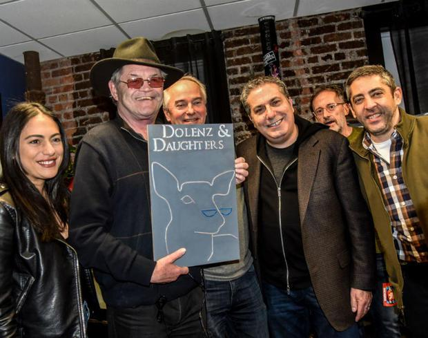Micky Dolenz of The Monkees surprised with a special sign for his furniture company  which he runs w...