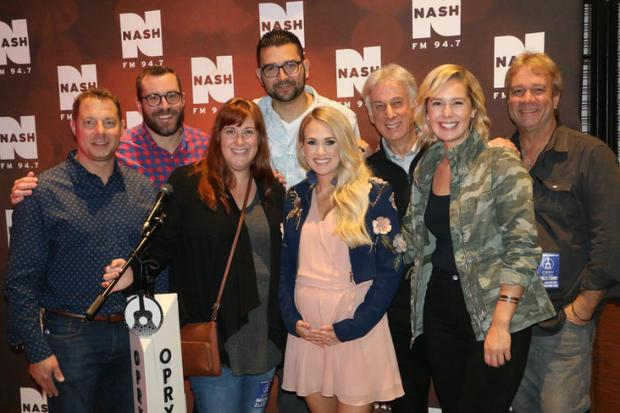 Carrie Underwood and industry professionals at Opry City Stage in New York