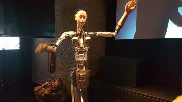 The robot named Alter 3  on display at the Barbican  London. Alter is a robot developed for the purp...