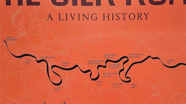A visual interpretation of The Silk Road route.