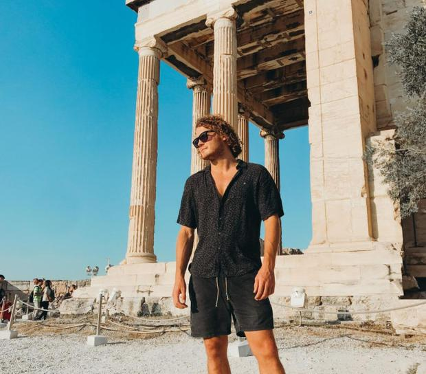 Fitness and travel expert Ted McColl in Greece