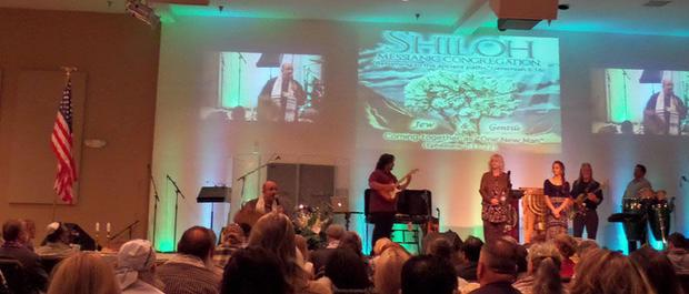 The setting for Nick s funeral with Lev Shelo band at Shiloh Messianic Congregation