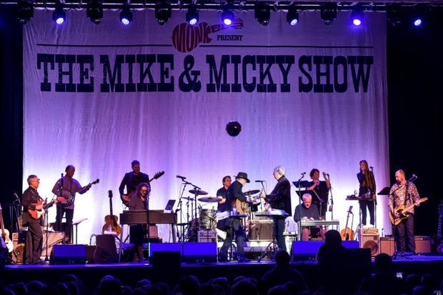 Mike Nesmith and Micky Dolenz of The Monkees performing at The Paramount
