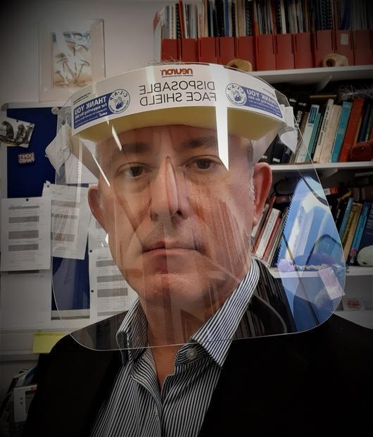 Digital Journal s Tim Sandle wearing a face shield.