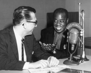 Willis Conover with jazz great Louis Armstrong.