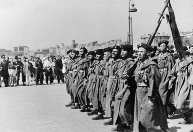 Moroccan Goumier (light infantry) soldiers were among the 233 000