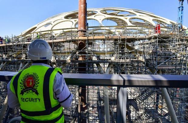 The Al Wasl Plaza's dome is set to be the world's biggest 360-degree projection screen