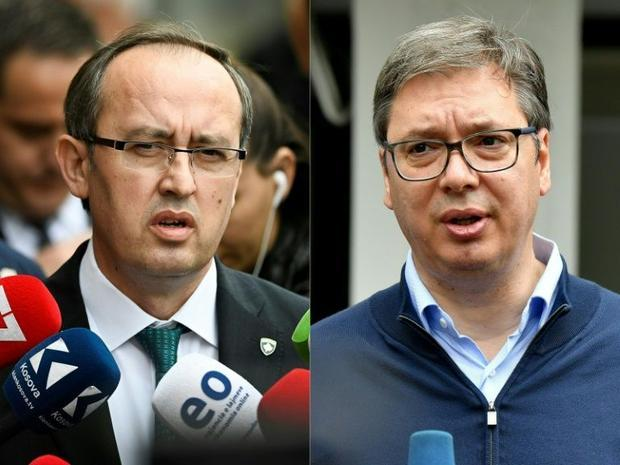 Kosovo's Prime Minister Avdullah Hoti held a video summit with Serbian President Aleksandar Vuc...
