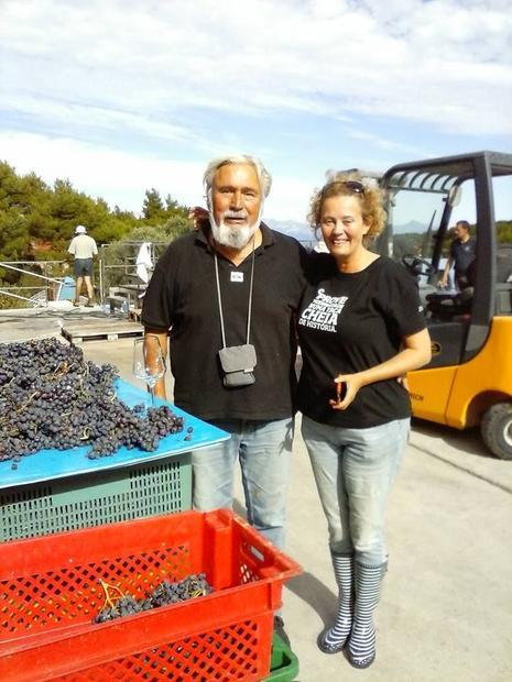 Andro Tomic and Master of Wine Jo Ahearne. Ahearne has moved to Hvar to make her own wine  the first...