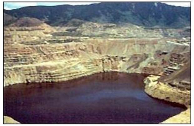 The Berkeley Pit  Butte  Montana.