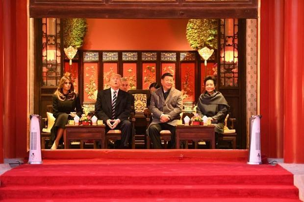 President Donald Trump on a state visit to China in 2017