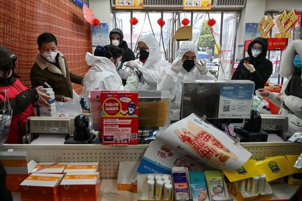 About Wuhan  the usual New Year visits are limited to a worried dash to the pharmacy  where customer...