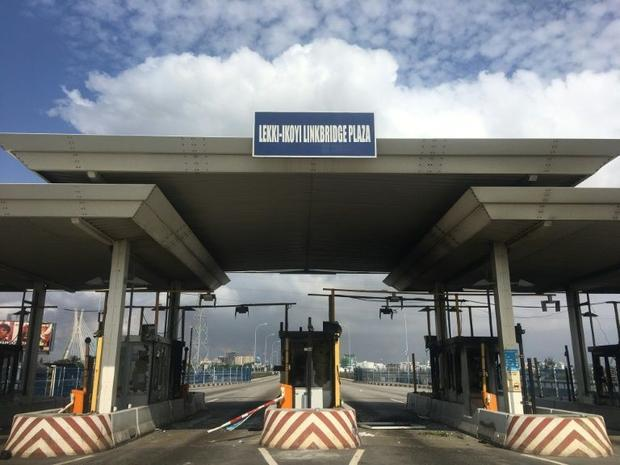 The toll gate was burnt after the deadly shooting  which shocked Nigerians