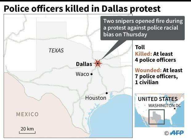 Police officers killed in Dallas protest