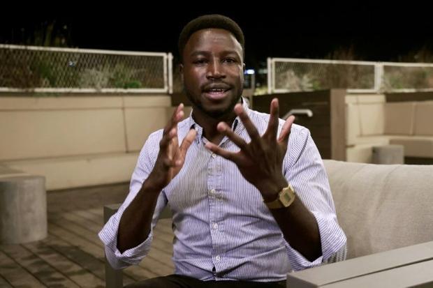 Sudanese asylum seeker and head of the African Students Organization in Israel Usumain Baraka says h...