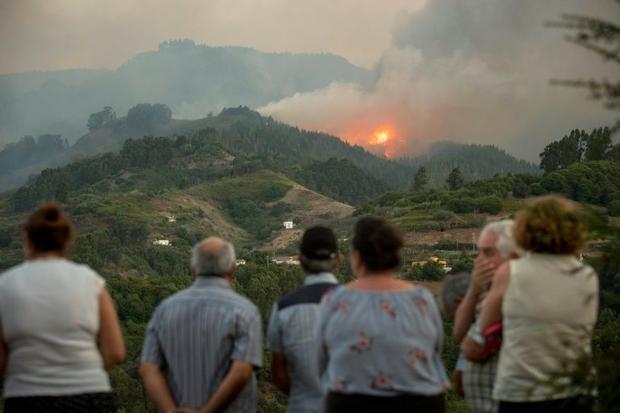 The fire has forced the evacuation of several villages
