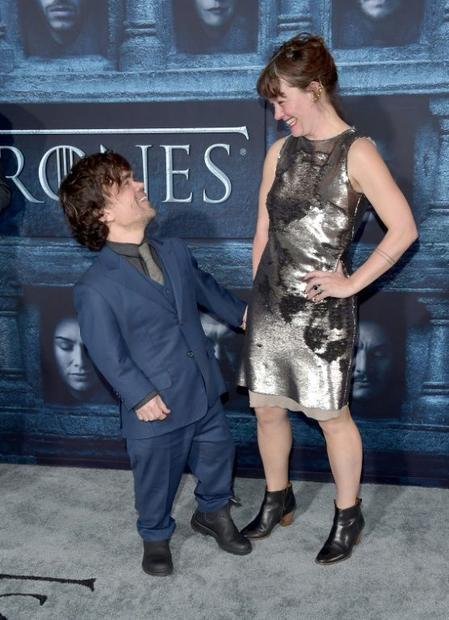 Peter Dinklage (L) and Erica Schmidt attend the premiere of HBO's